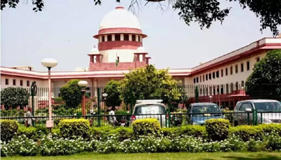 Front view of the Supreme Court of India